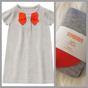 NWT Gymboree prep perfect sweater dress and tights